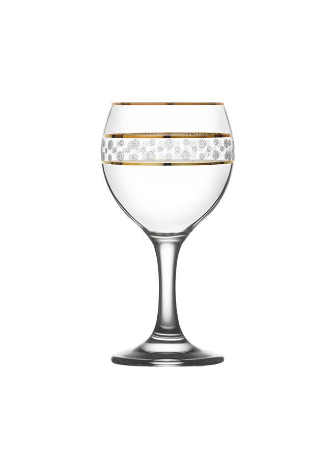 LAV 6'lı Paket Şarap kadehi Misket Gold Puantiye LV-MIS549 GY099GF