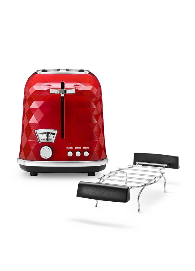 Delonghi Briallante Serisi Ekmek Kızartma Makinesi - Kırmızı