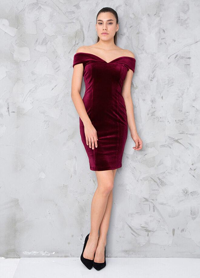 MY2EGO Kadife Elbise