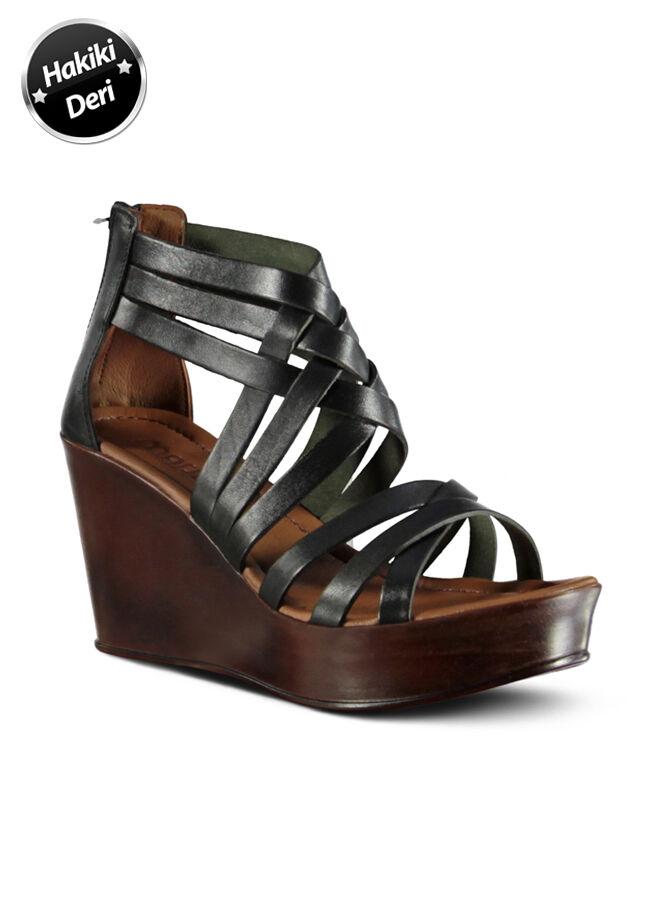 Marjin Hakiki Deri Sandalet