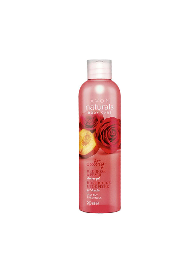 Avon Red Rose & Peach Duş Jeli 200 Ml.