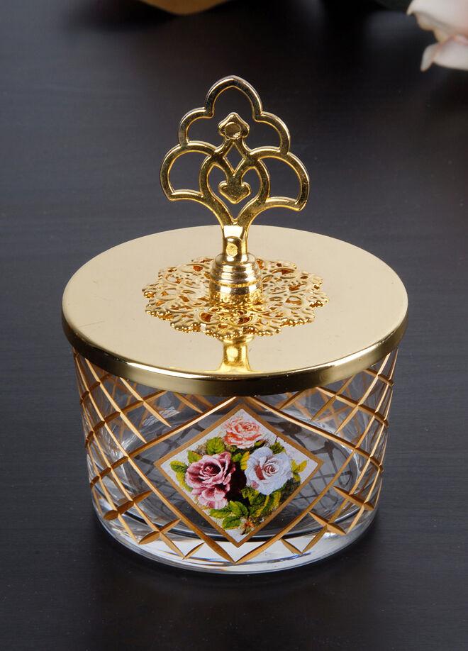 Franco Franco Çiçek Dekor Çerezlik-Mat Altın
