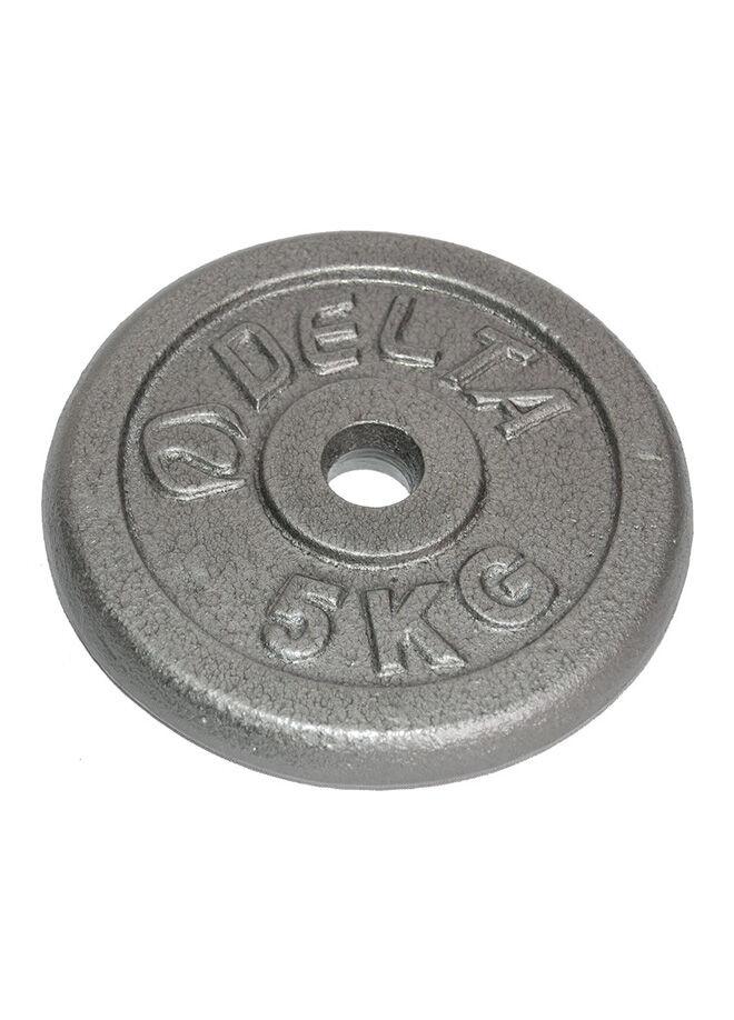 Delta Delta 5 Kg x 2 Adet (10 Kg) Deluxe Parlak Gri Döküm Plaka-Dambıl - DS 7250