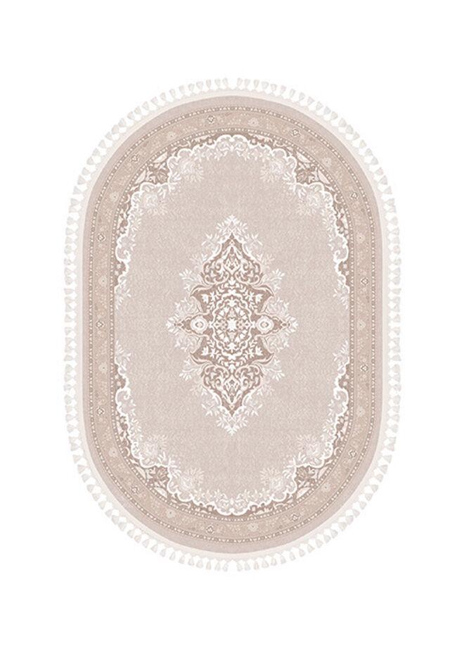 Brillant Brillant Latex Taban Efsun Oval Saçaklı Salon Halısı 150x230 cm