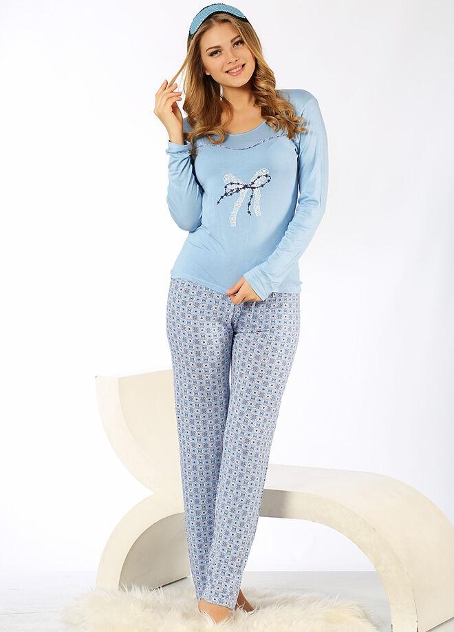 Mia Misenza Pamuklu Likralı Pijama Takım