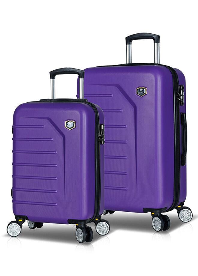 My Valice Premium Abs 2'li Valiz Seti (KABİN ve ORTA) Mor