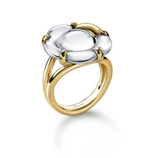 B FLOWER RING, Mirror clear