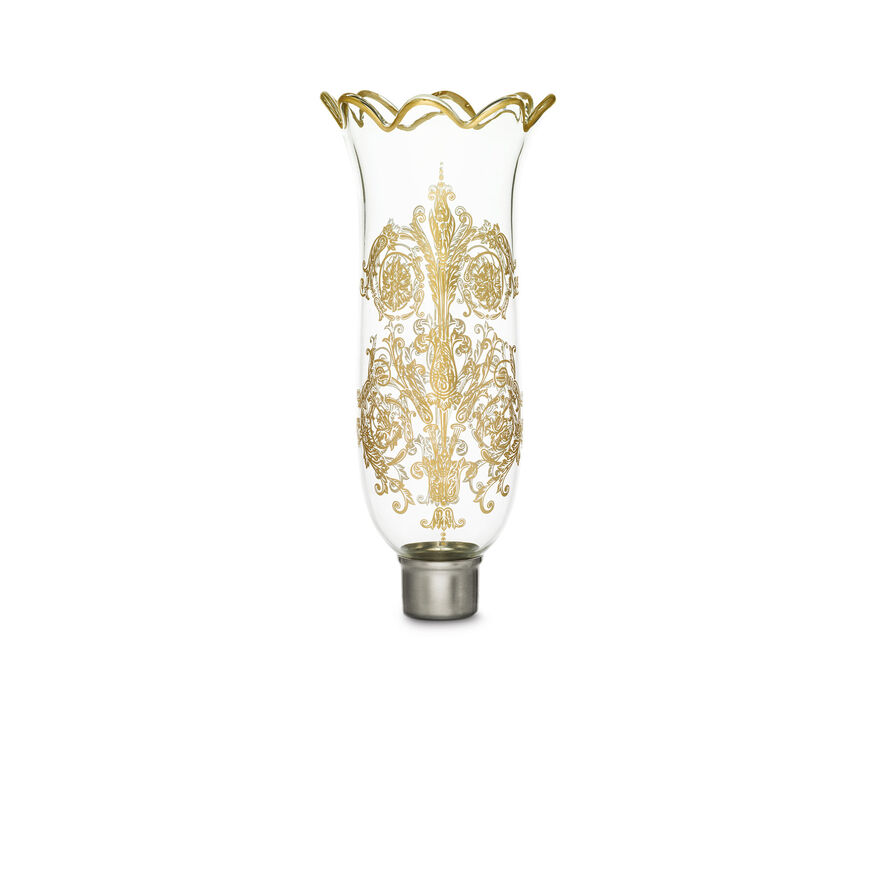 TULIPE HURRICANE SHADE SCALLOPED TOP ACANTHUS, Gold