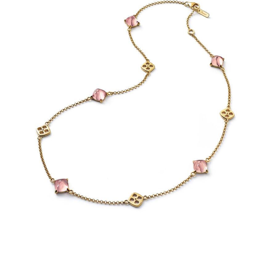 ミニメディチ ネックレス, ピンク