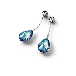 FLEURS DE PSYDÉLIC 耳環, 透明藍鏡面