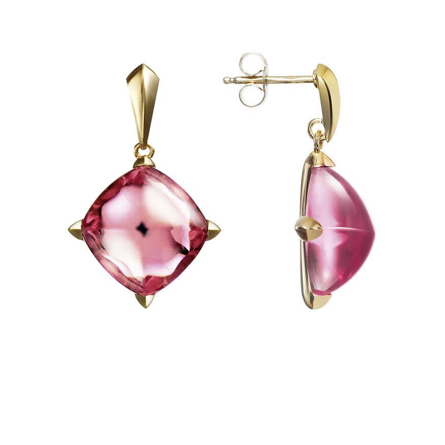MÉDICIS EARRINGS, Pink mirror