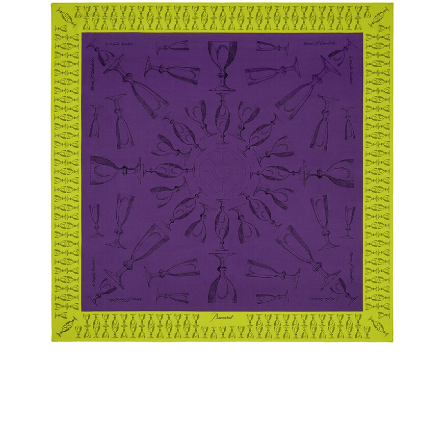 HARCOURT SILK TWILL SCARF, Purple