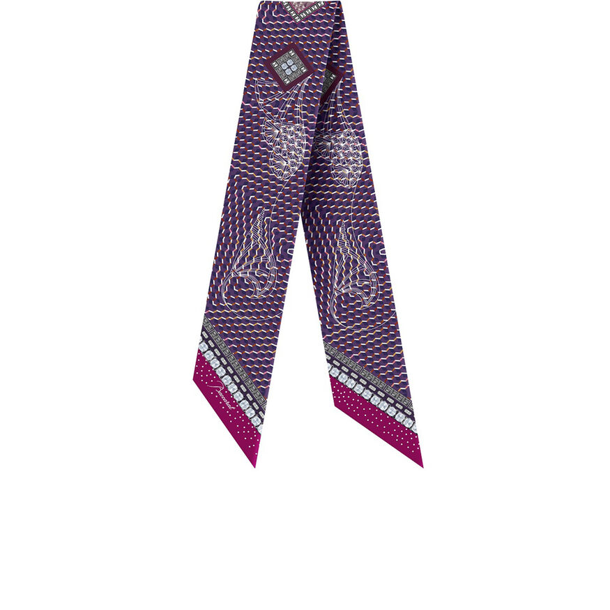 LOUXOR SILK TIE, Purple