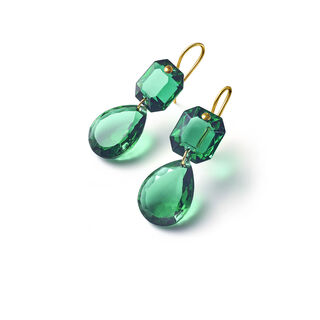 CRYSTAL DROPS OF COLOUR BACCARAT PAR MARIE-HÉLÈNE DE TAILLAC EARRINGS, Green