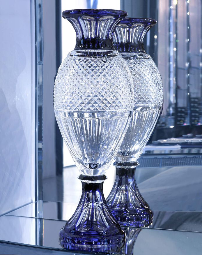 BELLE ÉPOQUE VASE, Clear & blue
