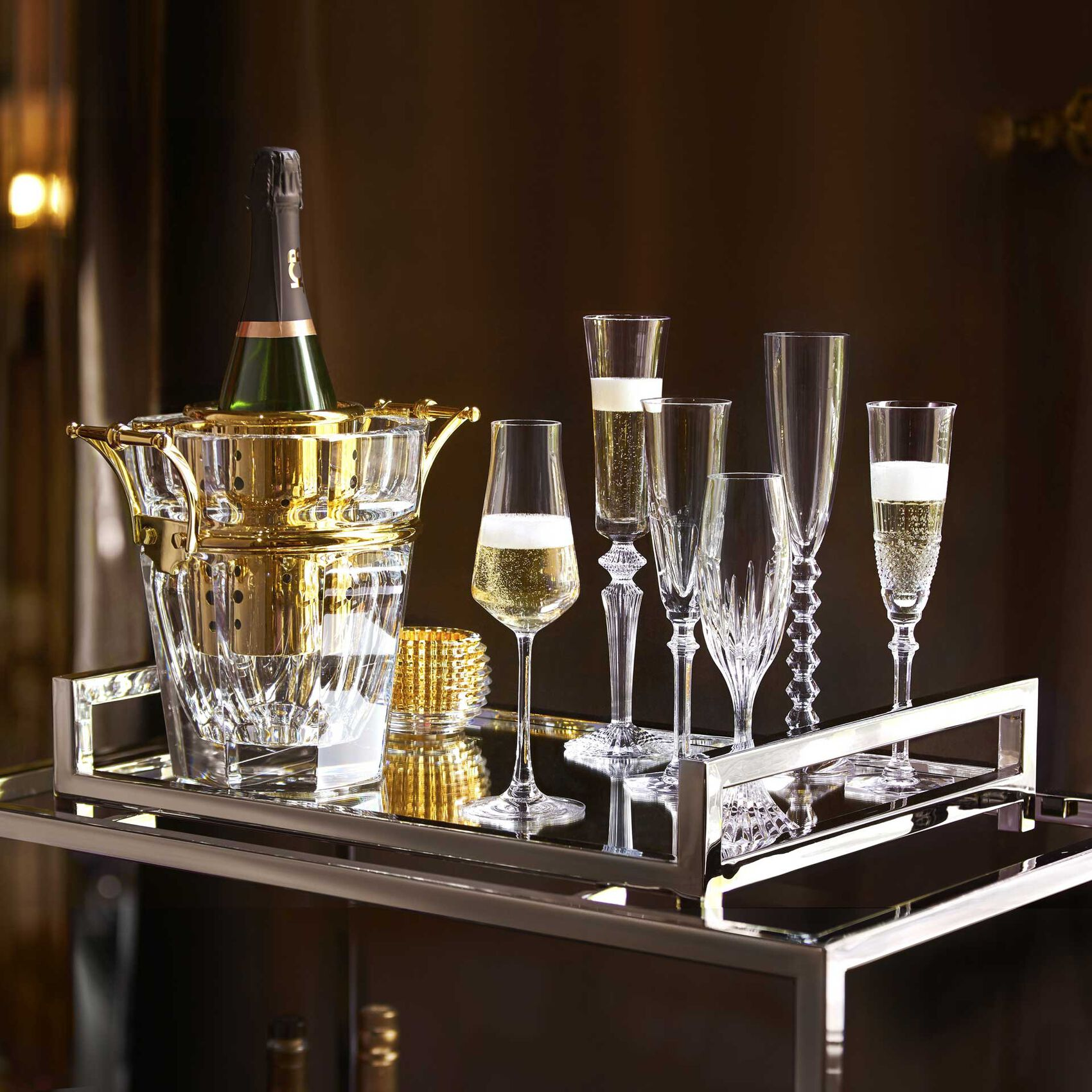 Harcourt champagne cooler for Ambiance decoration