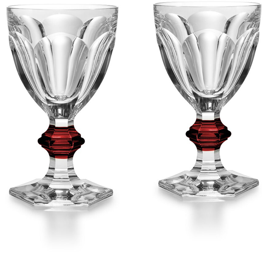 HARCOURT 1841 GLAS, Clear & red