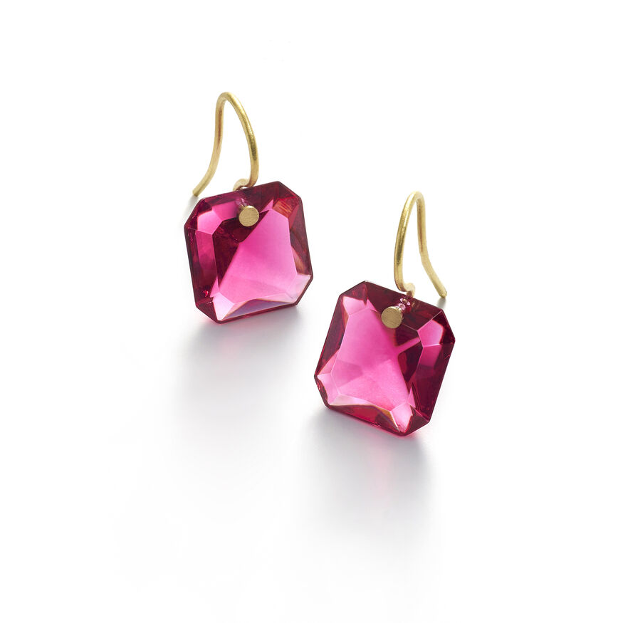 BACCARAT PAR MARIE-HÉLÈNE DE TAILLAC EARRINGS, Peony