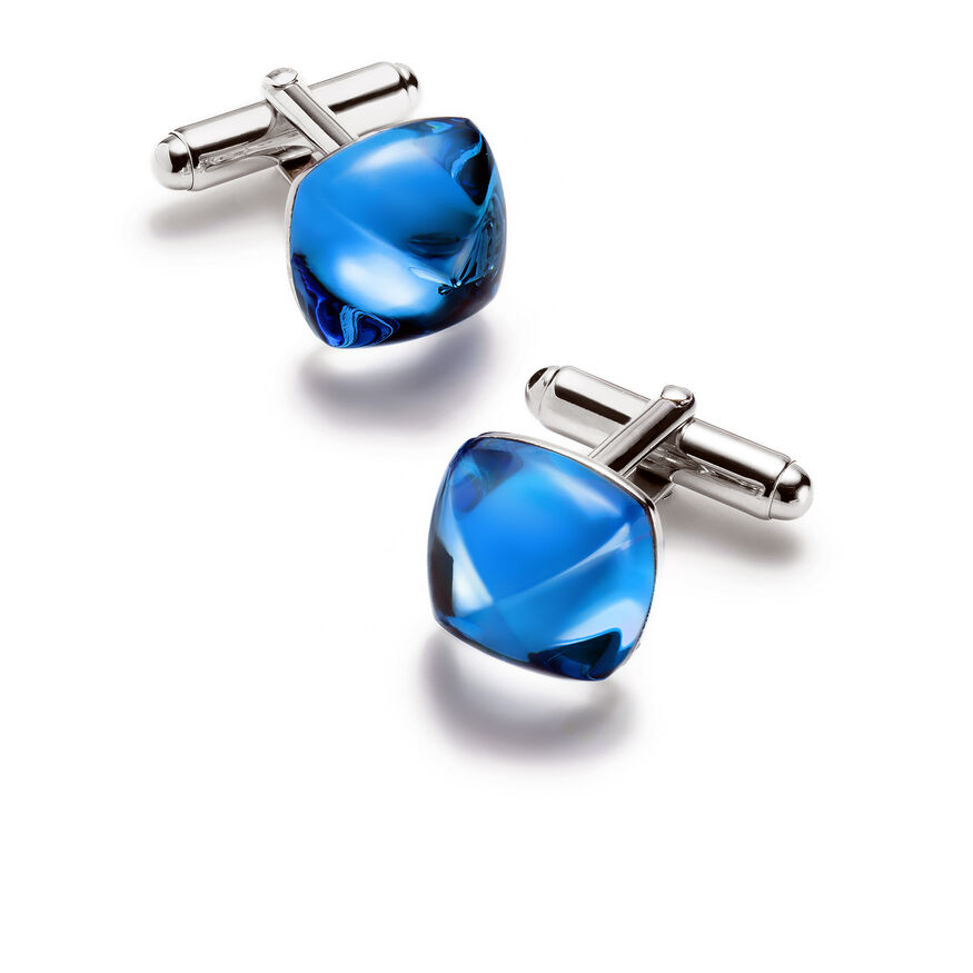 MÉDICIS CUFF LINKS, Riviera blue