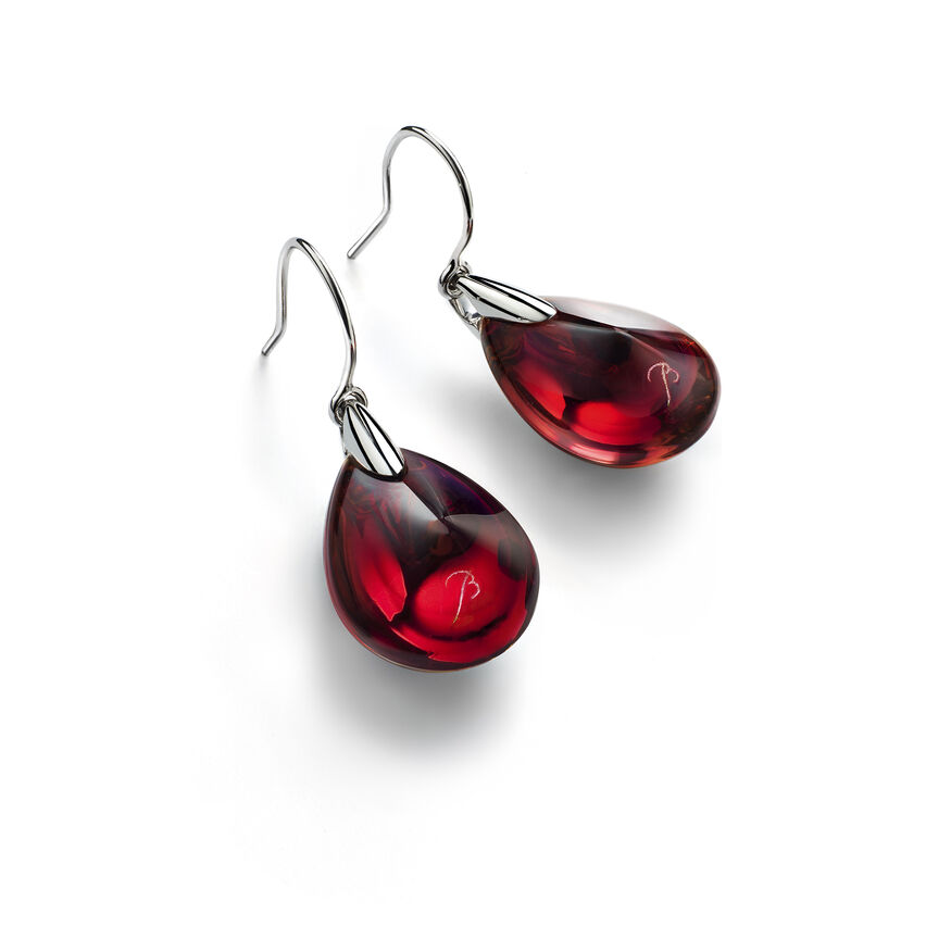 PSYDÉLIC EARRINGS, Iridescent red