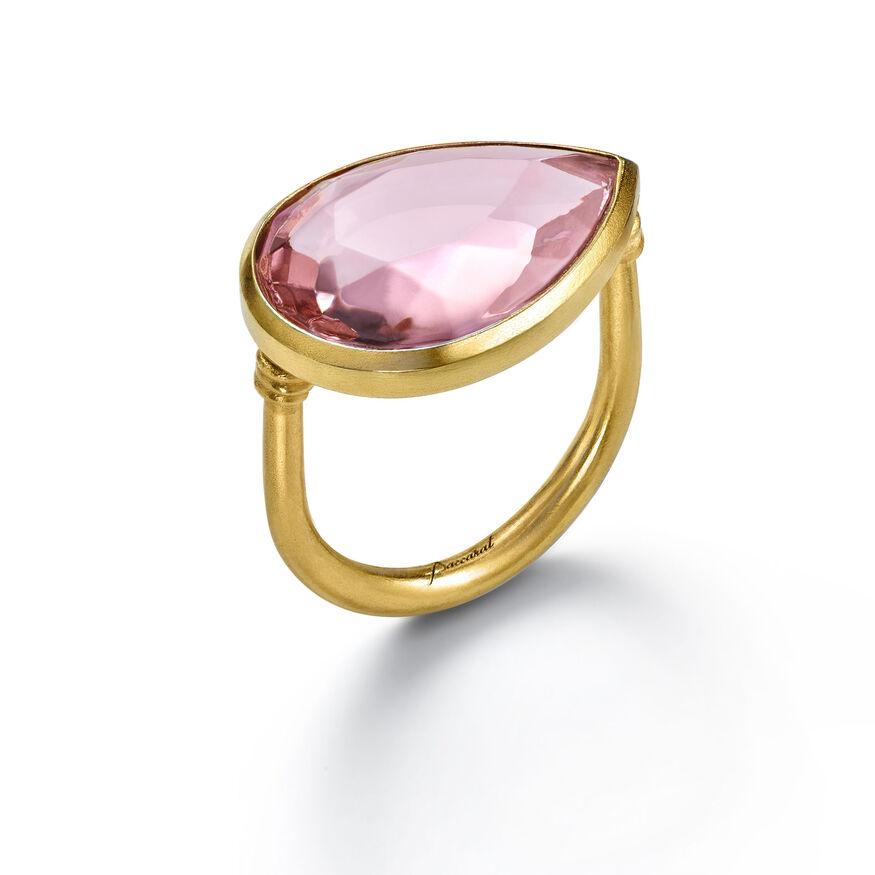 CRYSTAL DROPS OF COLOUR BACCARAT PAR MARIE-HÉLÈNE DE TAILLAC RING, Light pink