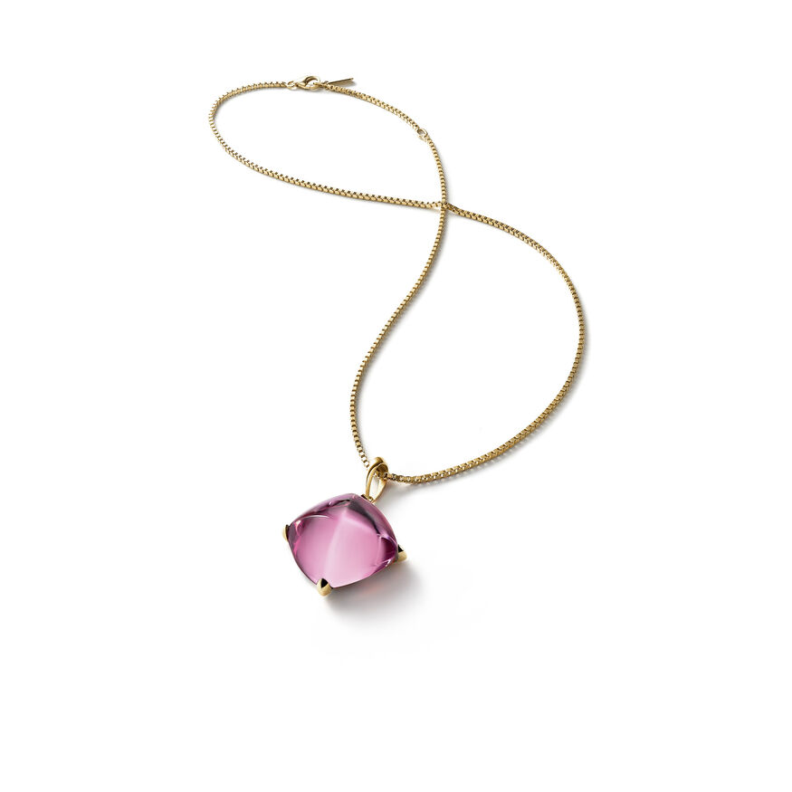 MÉDICIS NECKLACE, Pink mirror