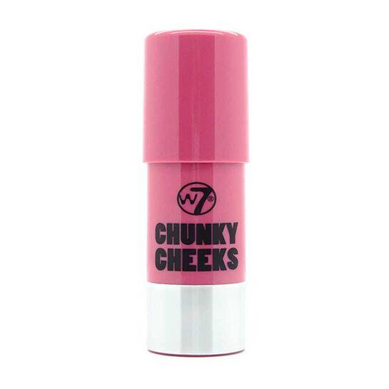 W7 Chunky Cheeks Blusher Pan Stick 7g, , large