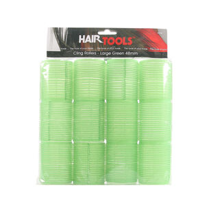 Hair Tools Large Velcro Rollers Green 48mm, , large