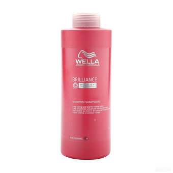 Wella Brilliance Shampoo for fine to normal hair 1000ml, , large
