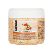 Bio Glow Macadamia Nut Face & Body Scrub 300ml, , large