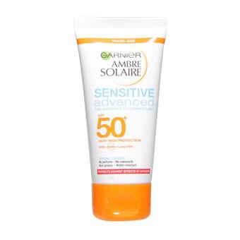 Garnier Ambre Solaire Milk Sensitive Advanced SPF50+ 50ml, , large