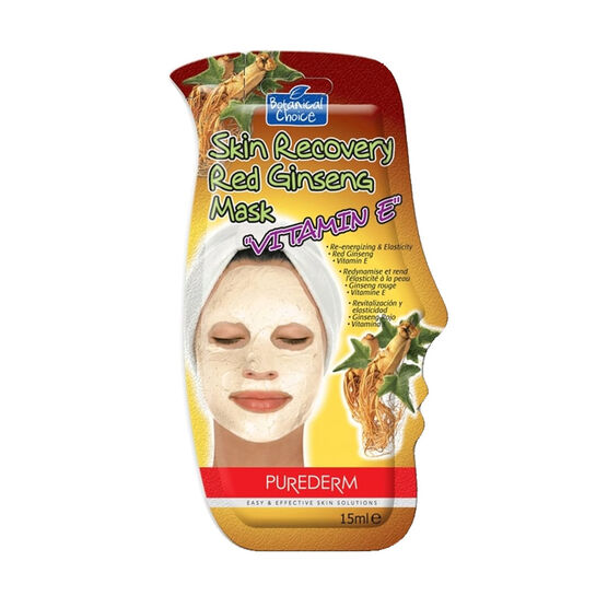 Purederm Skin Recovery Red Ginseng Vitamin E Mask 15ml, , large