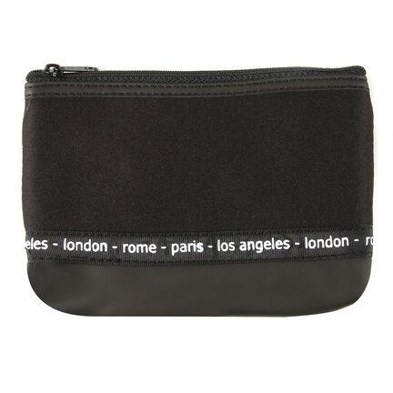 Travel Cosmetics Black Bag, , large
