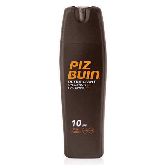 Piz Buin Utra Light Hydrating Sun Spray SPF10 200ml, , large
