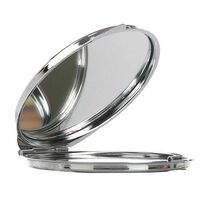 Technic Metal Round Compact Mirror, , large