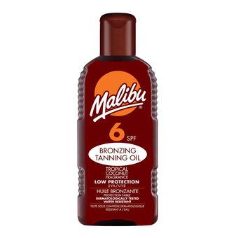 Malibu Bronzing Tanning Oil SPF 6 200ml, , large