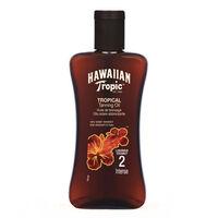 Hawaiian Tropic Tanning Oil Intense SPF2  200ml, , large