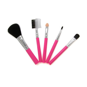 Royal Cosmetics Functionality 5 Piece Cosmetic Pink Brush Se, , large