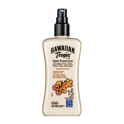 Hawaiian Tropic Satin Protection Spray Lotion SPF 15 200ml, , large