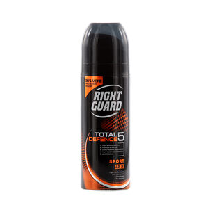 Right Guard Total 5 Defence Sport Anti Perspirant 150ml, , large