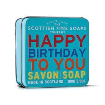 Scottish Fine Soaps Happy Birthday Triple Milled Soap 100g, , large
