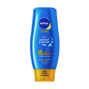 Nivea Protect and Refresh Sun Lotion SPF10 200ml, , large