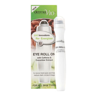 DermaV10 Q10 Innovations Eye Roll On Caffeine 15ml, , large
