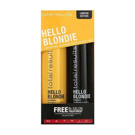 Matrix Total Results Hello Blondie Gift Set 2x 300ml, , large
