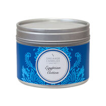Shearer Candles Egyptian Cotton Small Candle Tin, , large