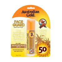 Australian Gold Face Guard Sunscreen Stick 14g, , large