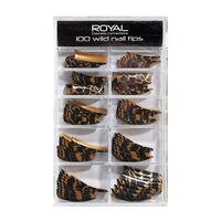Royal 100 Pre Coloured Wild Nail Tips, , large
