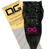 DREAM GIRL Euro Clip On Hair Extensions 18 Inch 1, , large