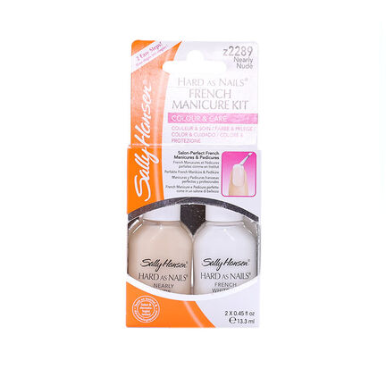 Sally Hansen French Manicure Kit Nearly Nude 2 x 13.3ml, , large