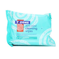 T Zone Shine Control Cleansing Wipes, , large
